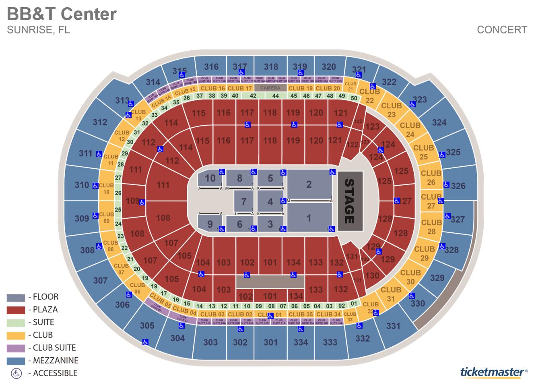 FLA Live Arena Map - Including Suites