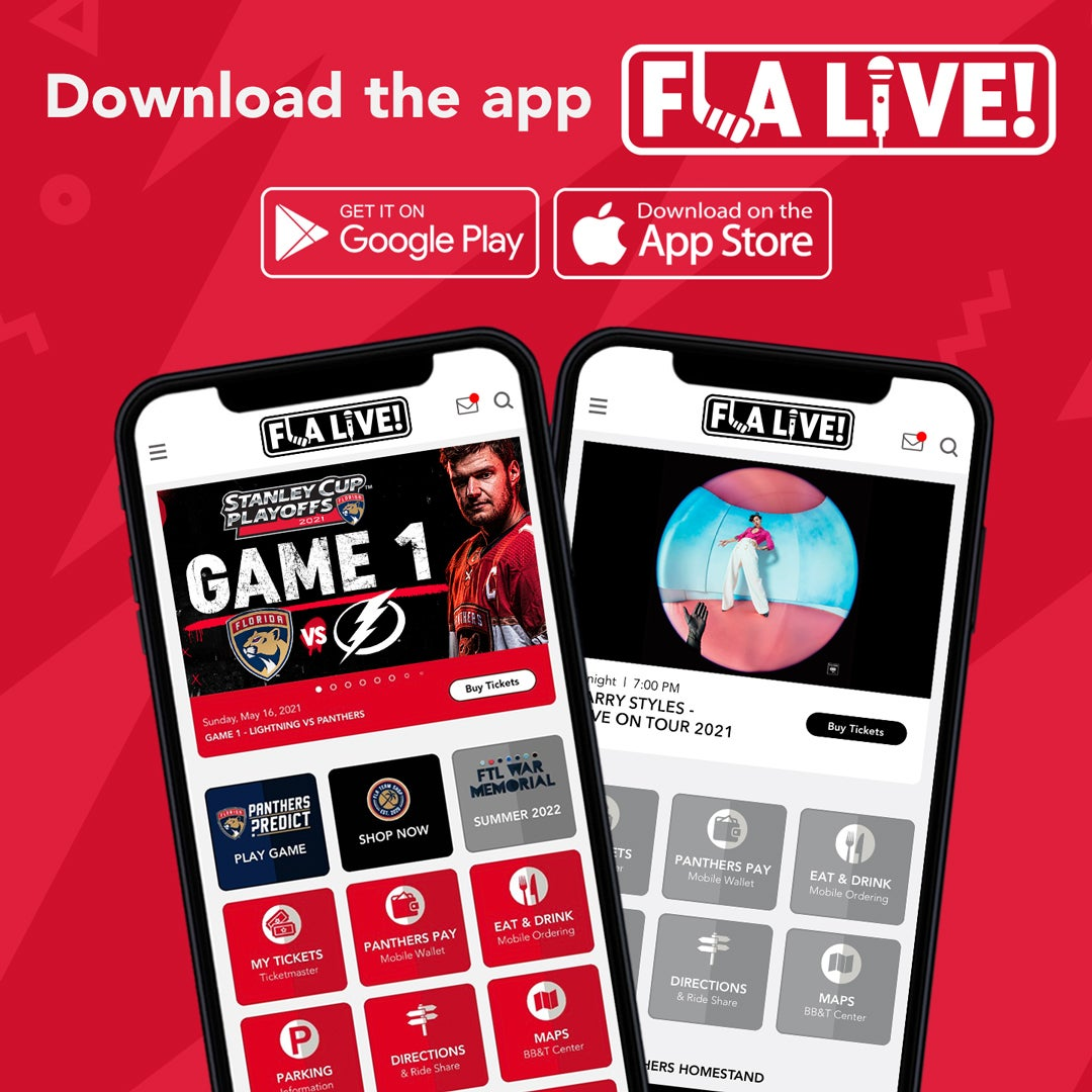 More Info for Florida Panthers, FLA Live ArenaLaunch All-New Interactive Arena Mobile Application FLA Live!
