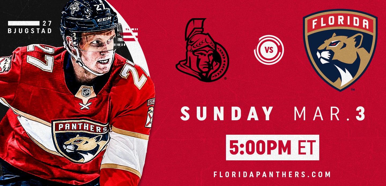Ottawa Senators vs. Florida Panthers