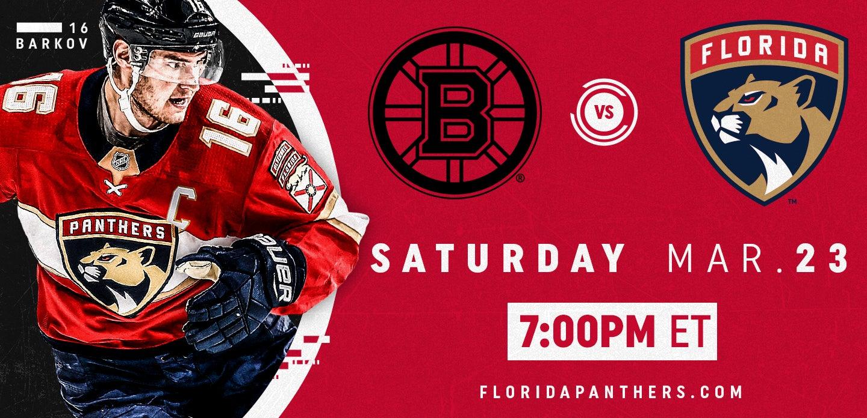 Boston Bruins vs. Florida Panthers