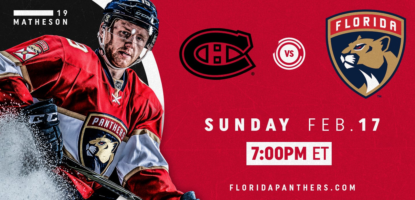 Montreal Canadiens vs. Florida Panthers