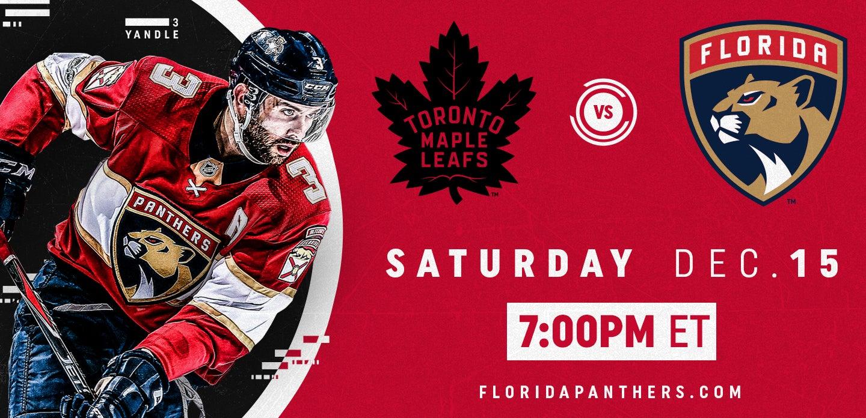 Toronto Maple Leafs vs. Florida Panthers