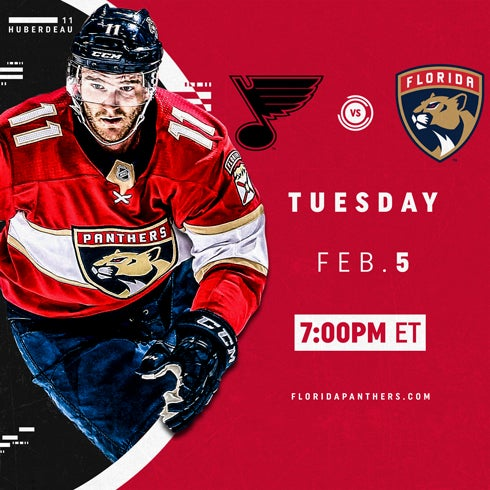 More Info for St. Louis Blues vs. Florida Panthers