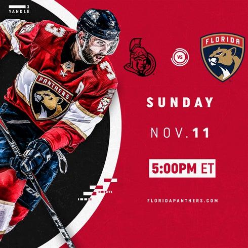 More Info for Ottawa Senators vs. Florida Panthers