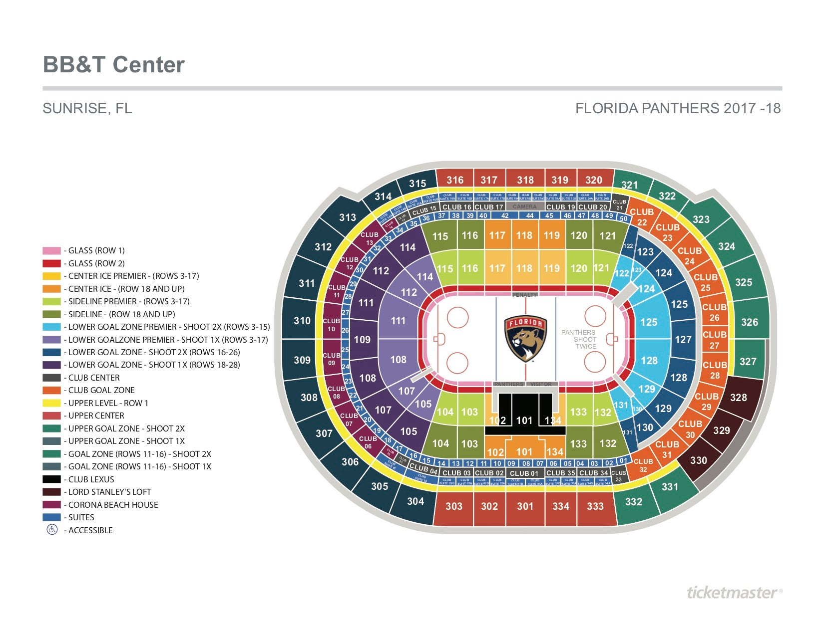 Seating charts bb t center