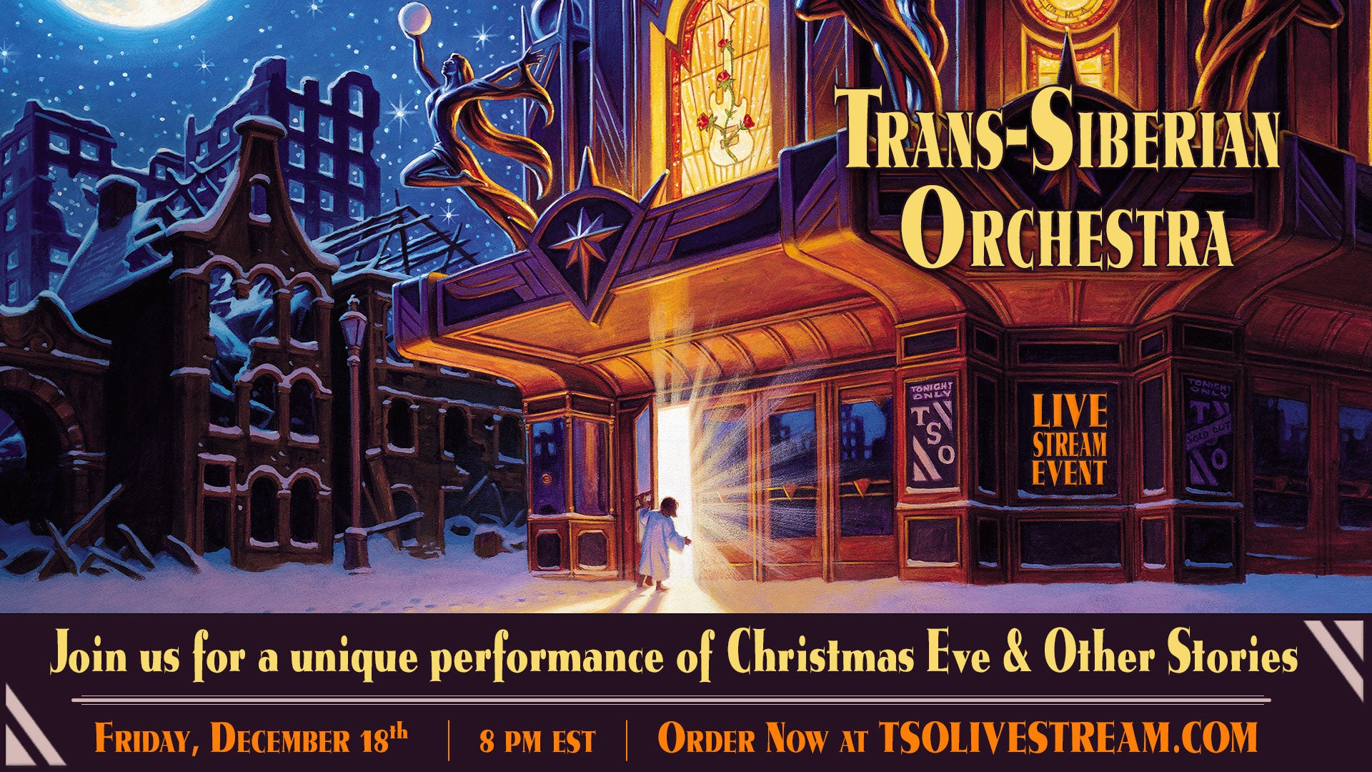 More Info for Trans-Siberian Orchestra Announces 'Christmas Eve and Other Stories Live in Concert' Special Livestream Event