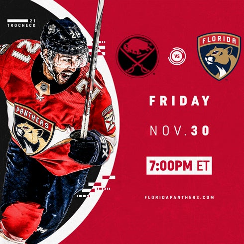 More Info for Buffalo Sabres vs. Florida Panthers