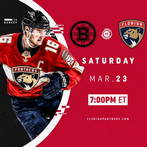 More Info for Boston Bruins vs. Florida Panthers